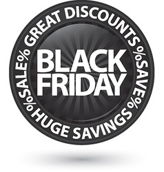 Black friday huge discounts icon vector image vector image