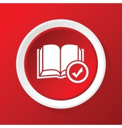 Book choice icon on red vector