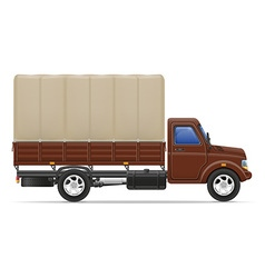 cargo truck 03 vector image