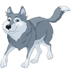 Cartoon wolf vector