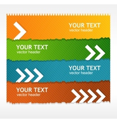 colorful text box vector image