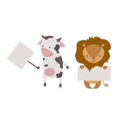 Cute animals character vector image vector image