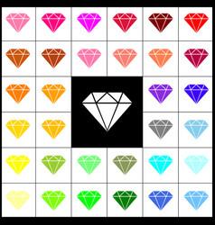 Diamond sign felt-pen 33 vector