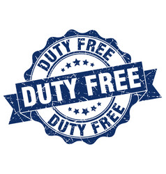 Duty free stamp sign seal vector