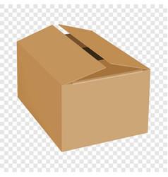 empty box mockup realistic style vector image