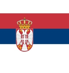 Flag of Serbia in correct size and colors vector image vector image