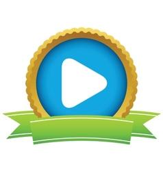Gold play logo vector