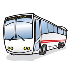 Happy bus vector