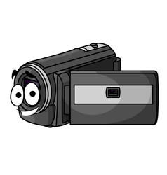 Happy cartoon video camera vector