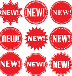 New signs set new sticker set vector image vector image
