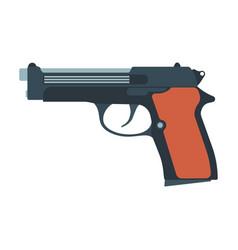 pistol gun revolver handgun weapon western vector image vector image