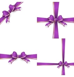 Red purple bow templates EPS 10 vector image vector image