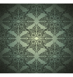 seamlessly damask wallpaper vector image