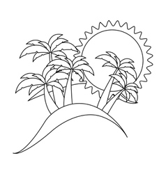 silhouette background beach icon design vector image vector image