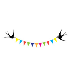 swallows and bunting vector image vector image