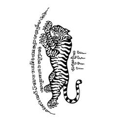 Tattoo thai style 4 vector