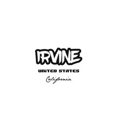 United states irvine california city graffitti vector