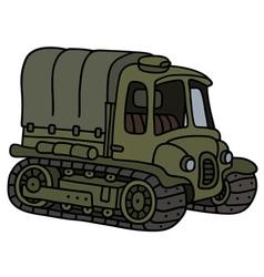 Vintage artillery tractor vector
