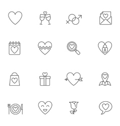Wedding and Love Icons vector image