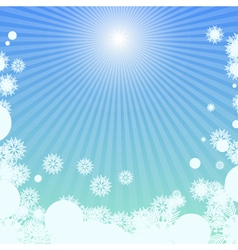 Winter background with sunlight vector