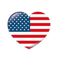 Usa symbol flag heart isolated design vector