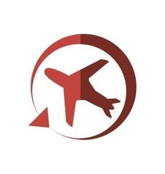 Worldwide traveling tourist plane shadow vector