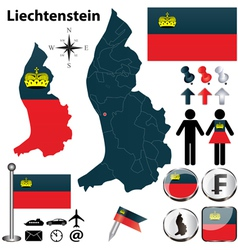 Map of liechtenstein vector
