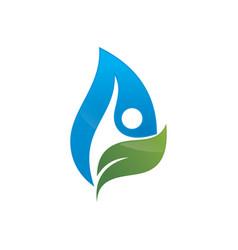 ecology logo concept vector image