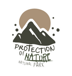 Protection of nature national park design template vector