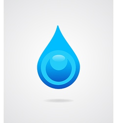 Blue water drop vector