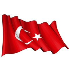 Turkye flag vector