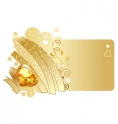 ribbon and jewel design vector image