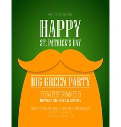St patricks day poster vector