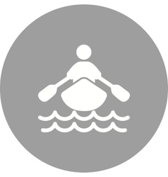 Rowing person vector