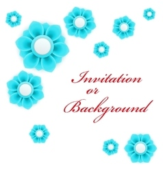 Greeting card or background with light blue flower vector