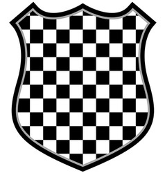 Checkered shield vector