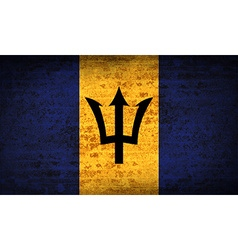 Flags barbados with dirty paper texture vector