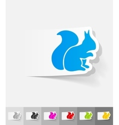 Realistic design element squirrel vector