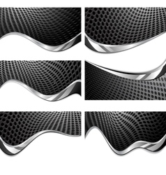 Metal texture perforated vector