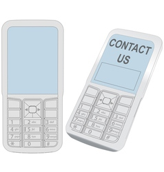 Cell Phone Contact vector image