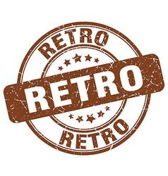 Retro brown grunge round vintage rubber stamp vector
