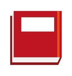 Thick red book vector