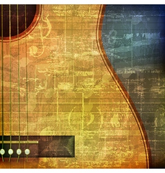 Abstract green grunge vintage sound background vector