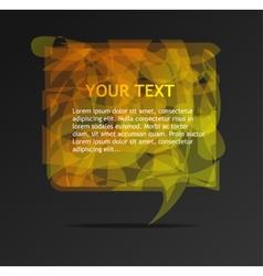 Abstract orange speech bubble vector