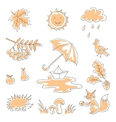 Autumn silhouettes vector