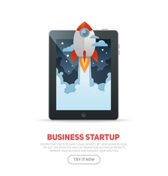 Business start up concept template vector image