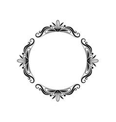 Classic black vintage pattern frame vector