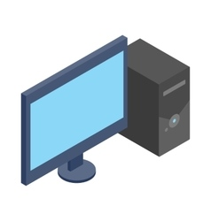 Computer icon isometric 3d style vector image vector image
