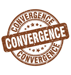 convergence brown grunge stamp vector image vector image