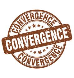 Convergence brown grunge stamp vector